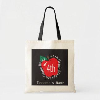 4th Grade Teachers Rock Bag Budget Tote Bag
