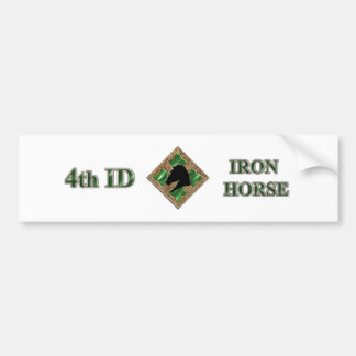 4th ID Iron Horse Bumper Sticker