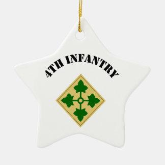4th Infantry Division Ceramic Star Decoration