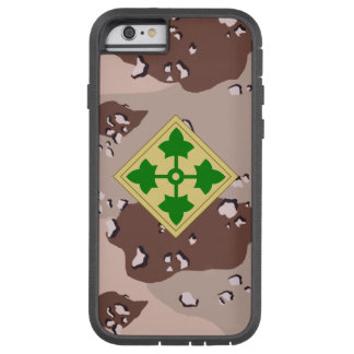 """4th Infantry Division """"Ivy Division""""  Desert Camo iPhone 6 Case"""