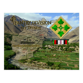 4th Infantry Division Postcard