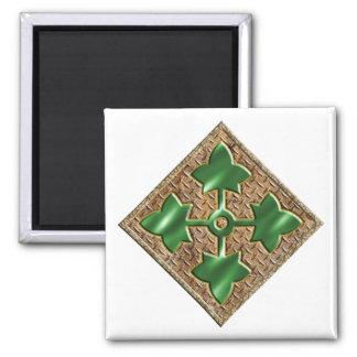 4th Infantry Division V2 Square Magnet