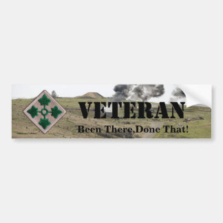 4th infantry division veterans bumper sticker