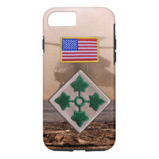 4th infantry division veterans vets patch iPhone 7 case