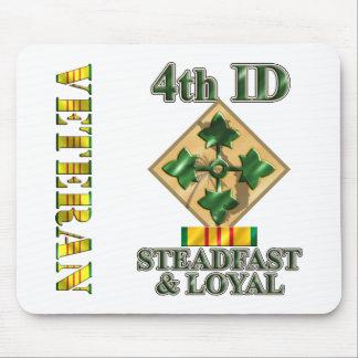 4th Infantry Division Vietnam Veteran Mouse Pad