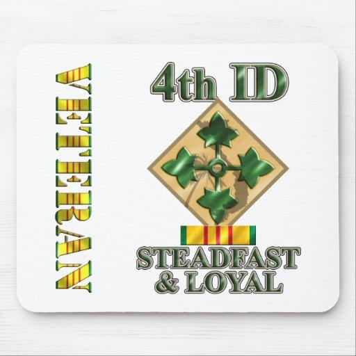 4th Infantry Division Vietnam Veteran Mousepads