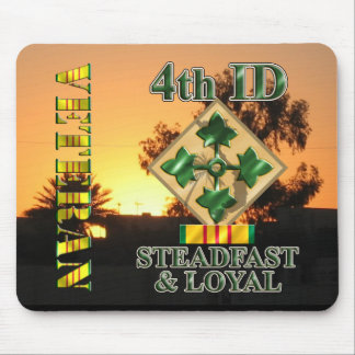 4th Infantry Division Vietnam Veteran Mouse Pads
