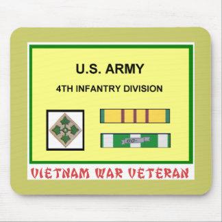 4TH INFANTRY DIVISION VIETNAM WAR VET MOUSE MAT