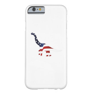 4th July Dinosaur American Flag Funny Gift Barely There iPhone 6 Case