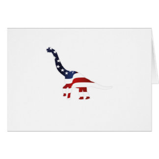 4th July Dinosaur American Flag Funny Gift Card