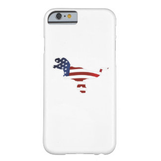 4th July Dinosaur T-Rex American Flag Funny Gift Barely There iPhone 6 Case
