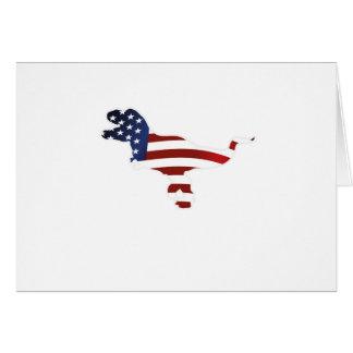 4th July Dinosaur T-Rex American Flag Funny Gift Card
