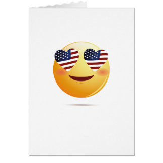 4th July Emoji  National Independence Funny Gift Card