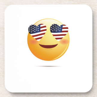 4th July Emoji  National Independence Funny Gift Coaster