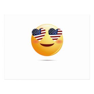 4th July Emoji  National Independence Funny Gift Postcard