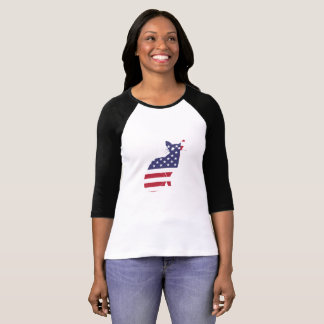 4th July Fourth of July  Cat Independence Day T-Shirt