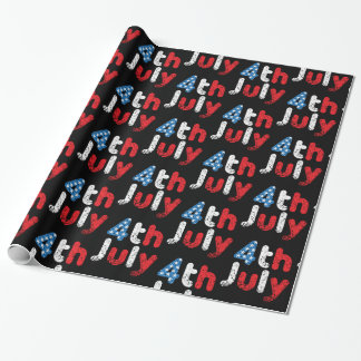 4th July Grunge Effect Wrapping Paper