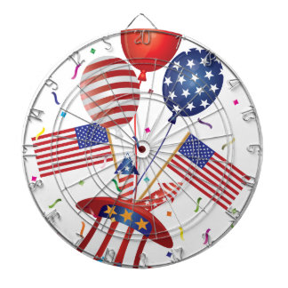 4th July Hat Balloons American Flag Firecrackers Dartboard
