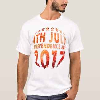 4th July & Independence Day Circle T-Shirt