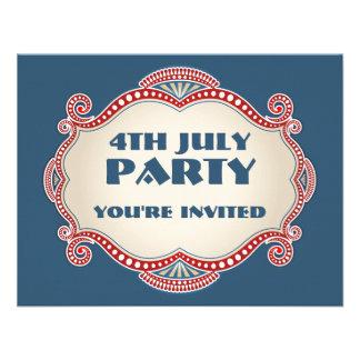 4th July Patriotic Party Invitations