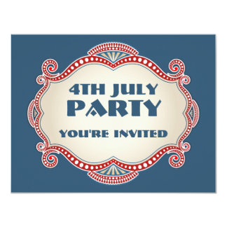 4th July Patriotic Party Invitations