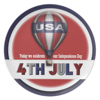 4th July USA Independence Day Plates
