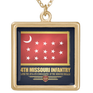 4th Missouri Infantry Gold Plated Necklace