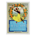 4th National Orange Show 1914 Poster