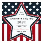 4th of July 13 Cm X 13 Cm Square Invitation Card