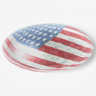4th Of July 9 Inch Paper Plate