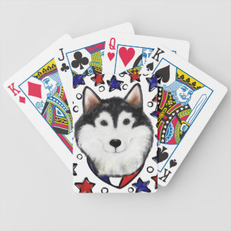 4th of July Alaskan Malamute Bicycle Playing Cards
