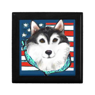 4th of July Alaskan Malamute Gift Box