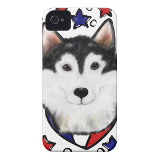 4th of July Alaskan Malamute iPhone 4 Cover
