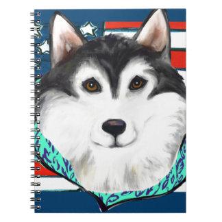 4th of July Alaskan Malamute Notebook