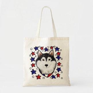4th of July Alaskan Malamute Tote Bag
