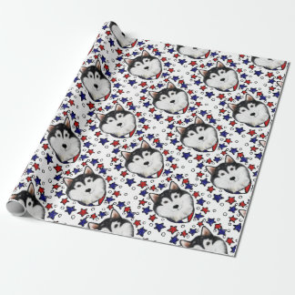 4th of July Alaskan Malamute Wrapping Paper