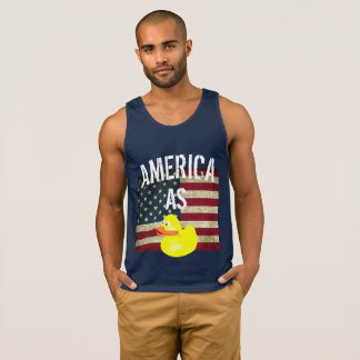 4th of July- America As Duck Funny Tee
