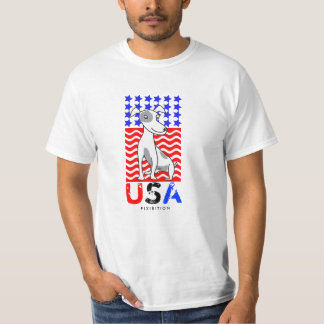 4th Of July America Patriotic T-Shirt Mini Dog