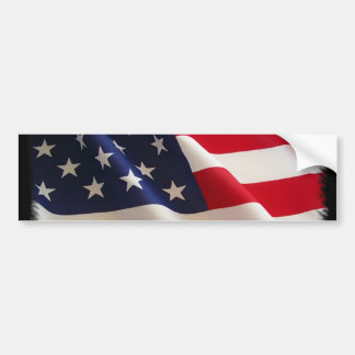 4th of July American Flag Merchandise Bumper Sticker