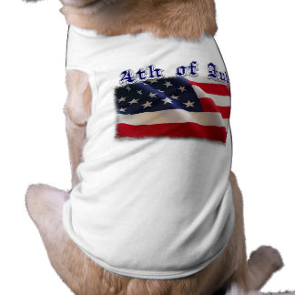 4th of July American Flag Merchandise Dog T-shirt