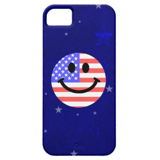 4th of July American Flag Smiley face iPhone 5 Cover