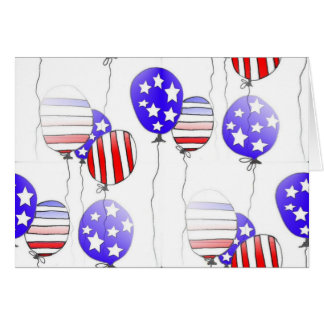 4th of July balloons greeting Card