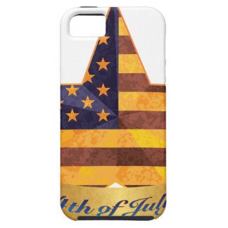 4th of July Banner and Star with USA Flag Texture iPhone 5 Cover