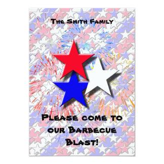 """4th of July Barbecue Invitation 5"""" X 7"""" Invitation Card"""