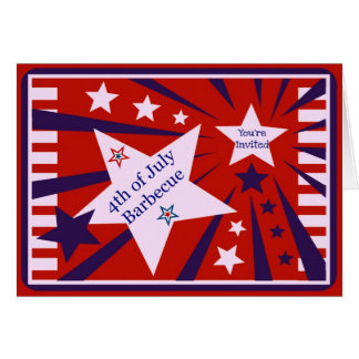 4th of July Barbecue/Party Invitation