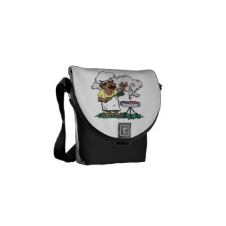 4th Of July Barbeque 2 png Messenger Bags