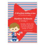 4th of July birthday boy 13 Cm X 18 Cm Invitation Card