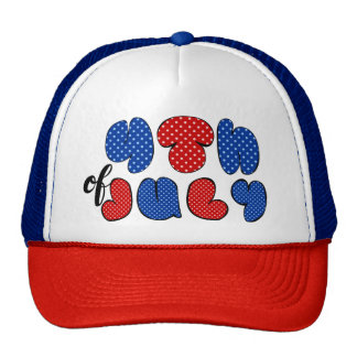 4th of July bold lettering, patriotic flag colors Cap