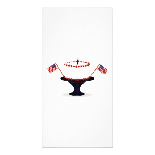 4th of July Cake Picture Card