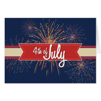 4th of July Card#4 Greeting Card